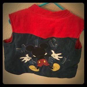 Mickey Mouse Corduroy and Jean puff vest